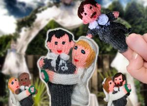 finger puppets wedding favors