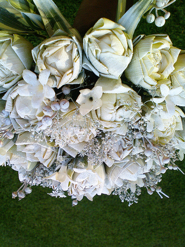 An example of an imaginative wedding bouquet