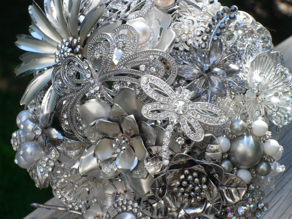 silver-rhinestone bouquet