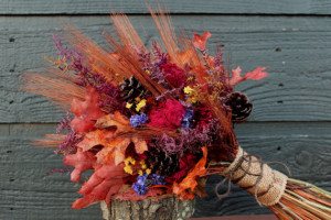 country inspired wedding bouquet