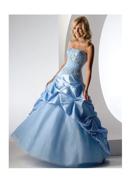 blue gown