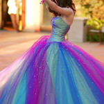 colorful wedding gown