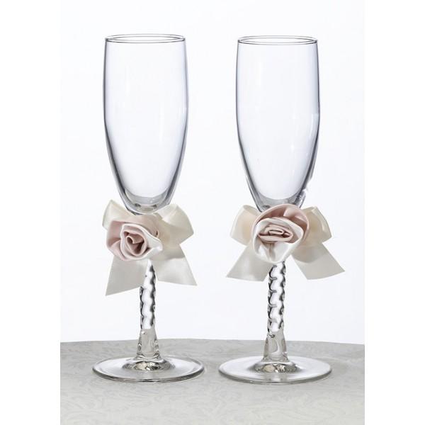 ribbon decoration for champaign flutes
