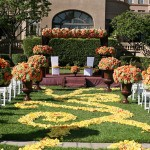 flowery themed wedding