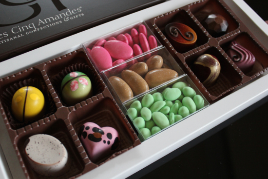 hand-painted chocolates