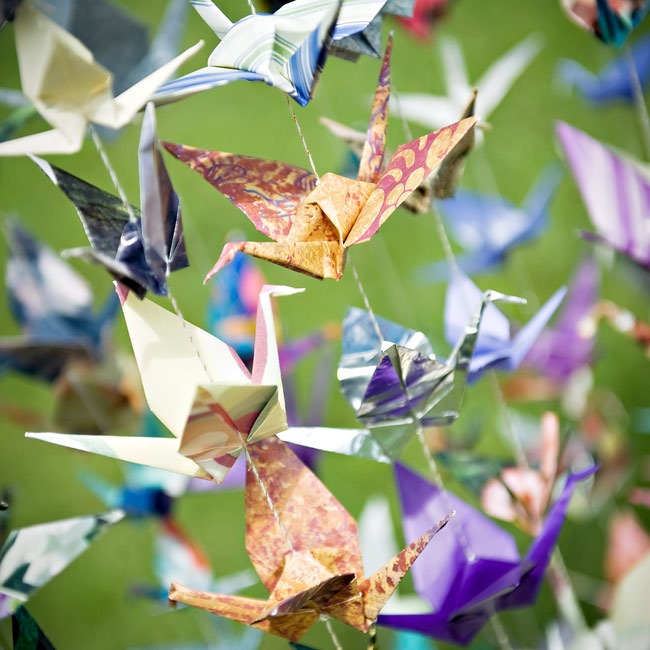 Origami Cranes Wedding Decorations