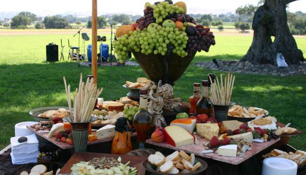 wedding feast in the open