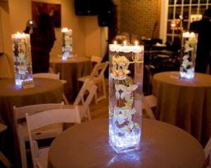 wedding decoration with LED lights