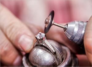 lab-created diamond ring