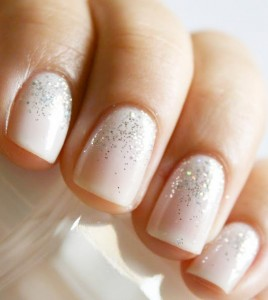 wedding nails classic style with a twist