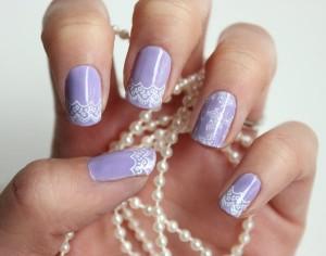 wedding nails lace 2