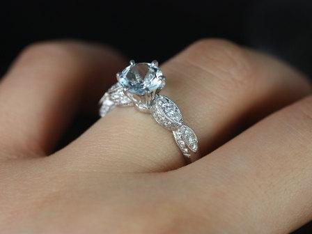 Aquamarine Engagement Ring A Unique Delightful