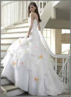 5 awesome themed wedding dress ideas cardinal bridal Wedding dress butterfly design