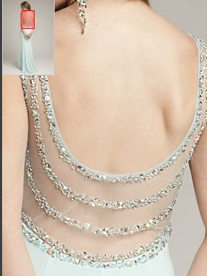 open back with sequin