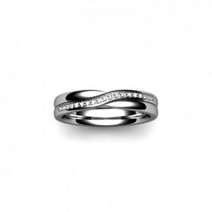 Shaped Platinum Wedding Ring by Orla James