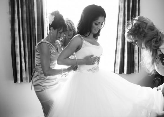 black-n-white photo - getting ready