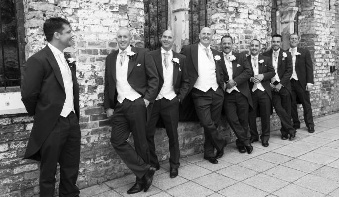 black-n-white photo - groomsmen