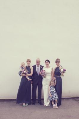 children with bride's parents