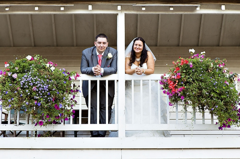 couple standing in balcony