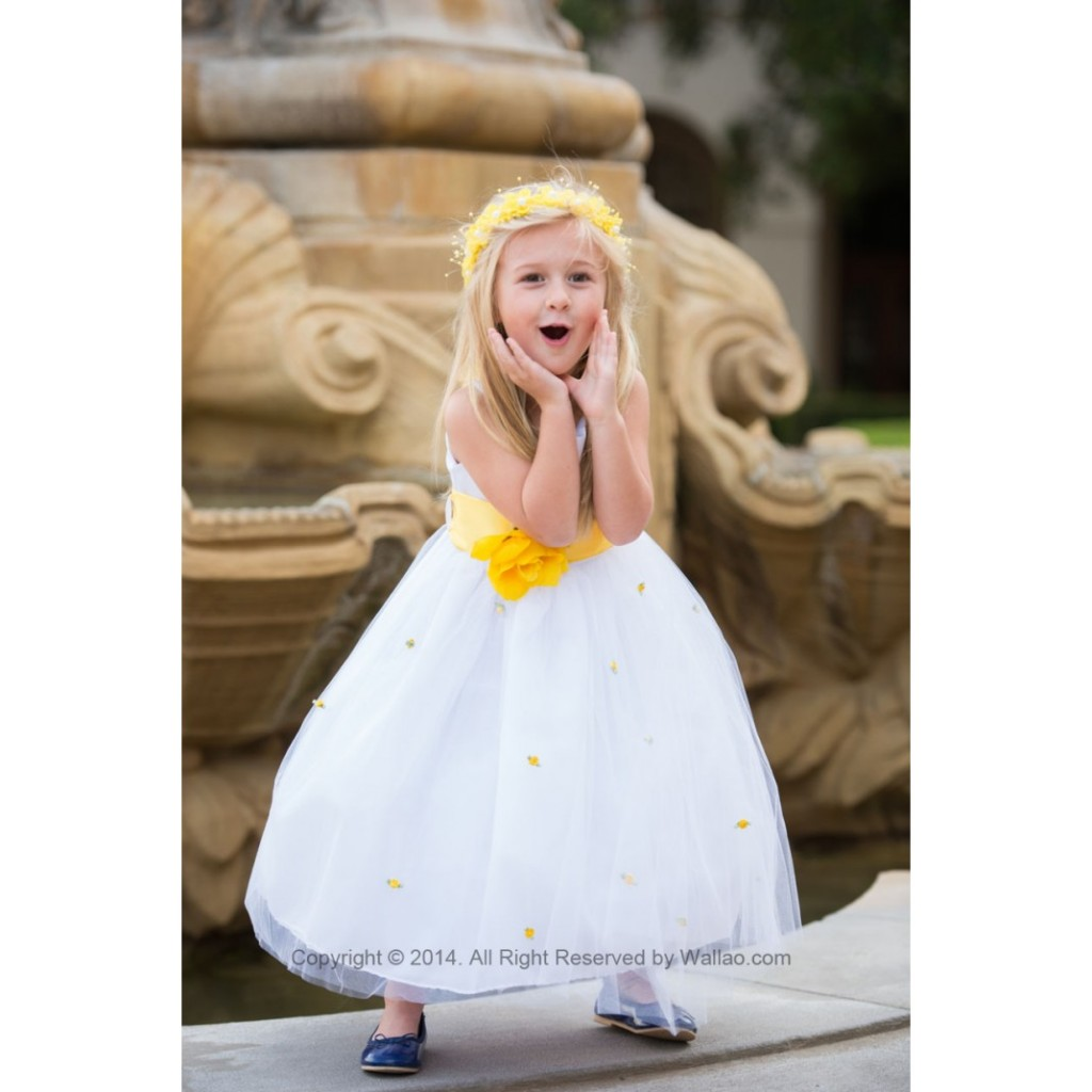 flower girl dress with curly bottom