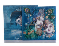 Radha Krishna wedding card