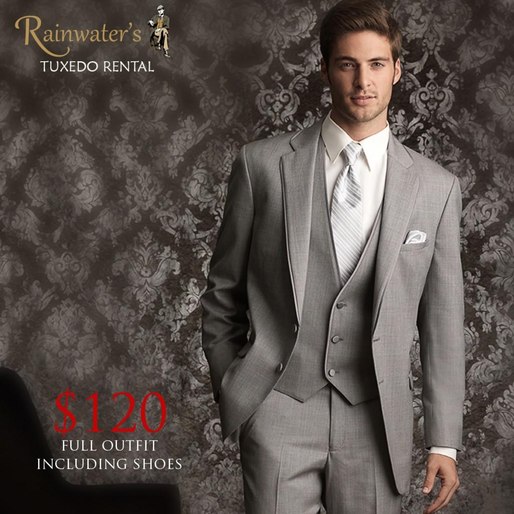 rainwaters grey tuxedo rental