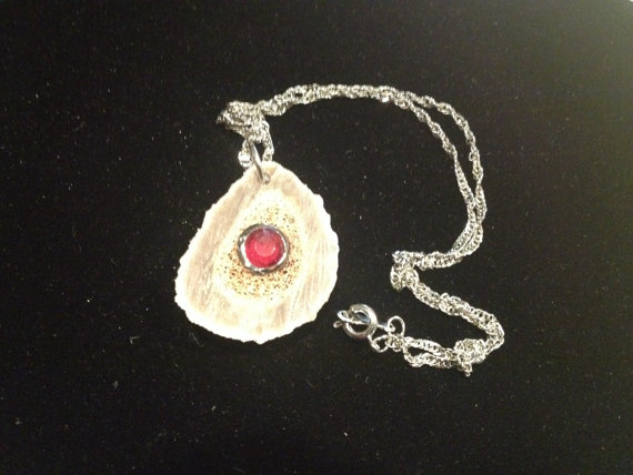 ruby inlaid necklace