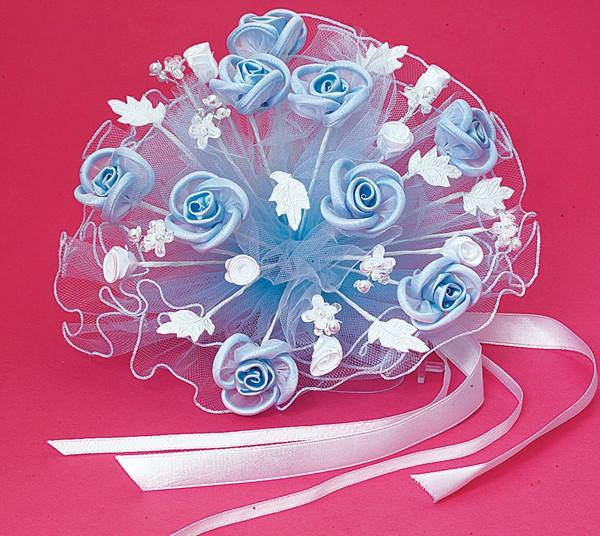 Floral Light Blue Bouquet