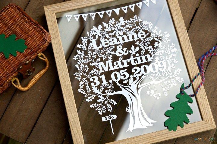 Love Tree Papercut