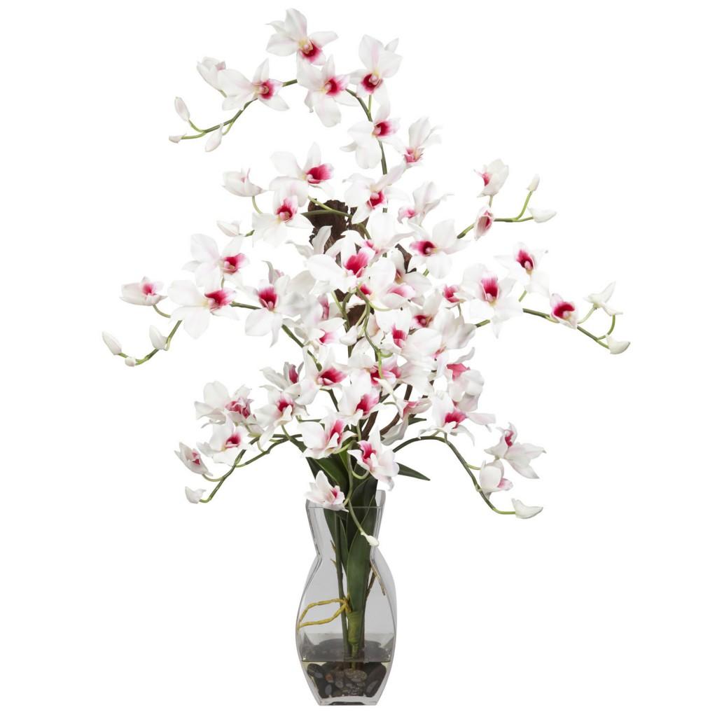 dendrobium silk flower arragement
