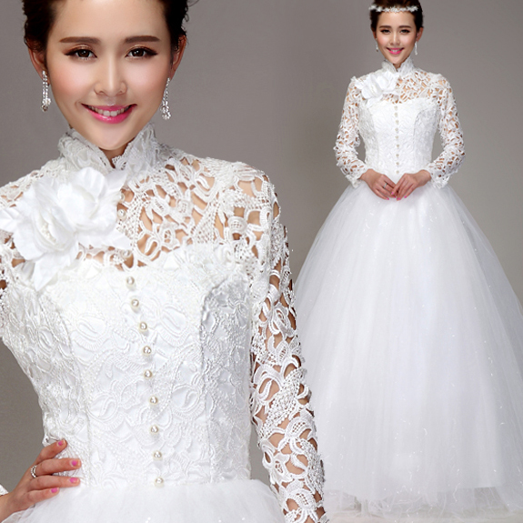Wedding Dress bride sexy Muslim Handmade vestido