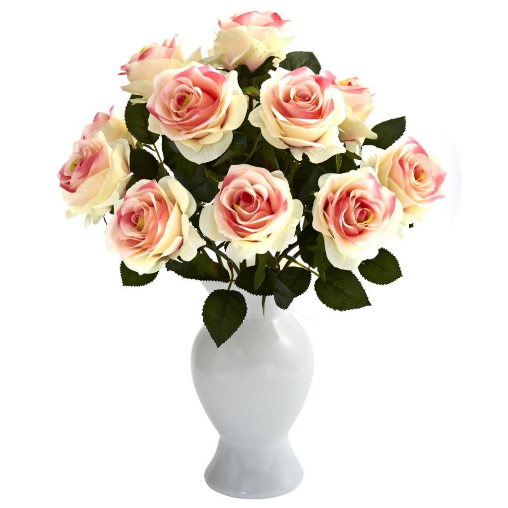 roses silk flower arragement