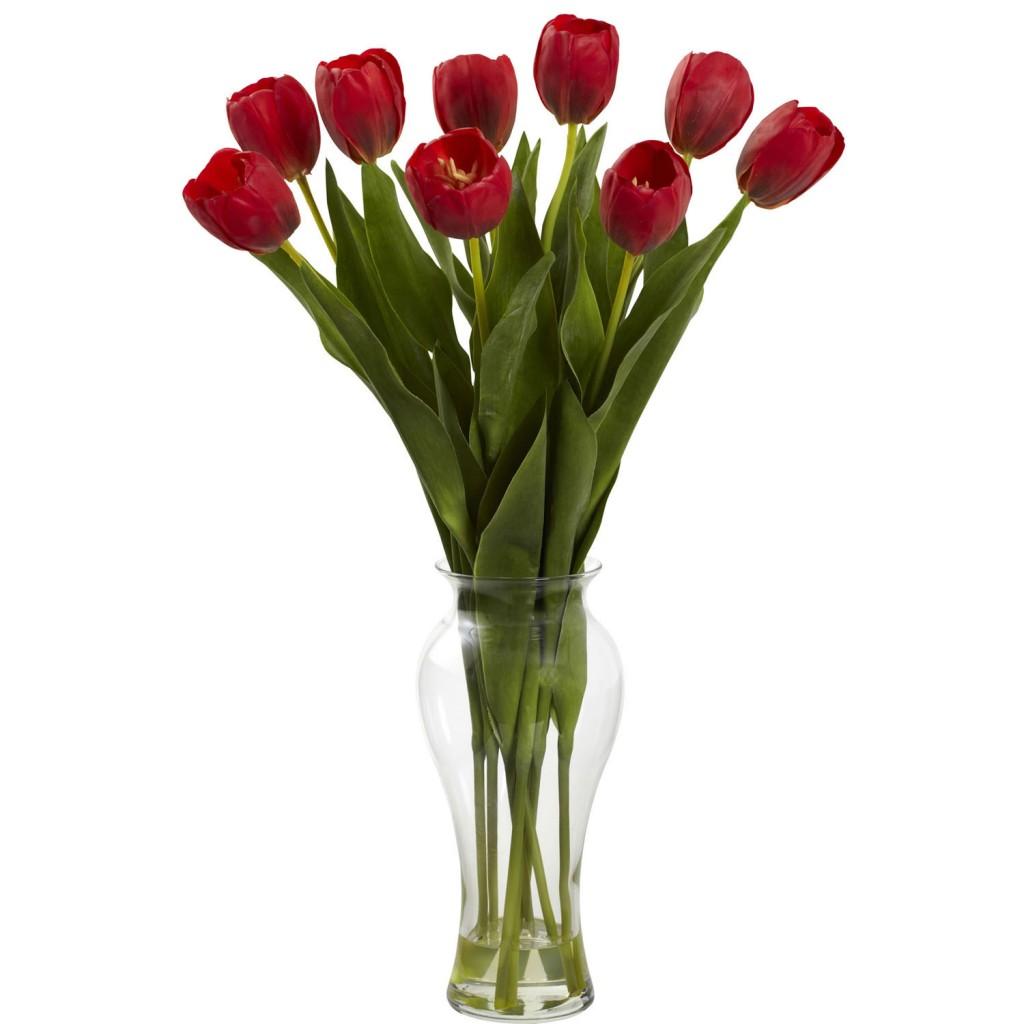 tulips silk flower arragement