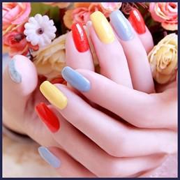 gel nails for bride