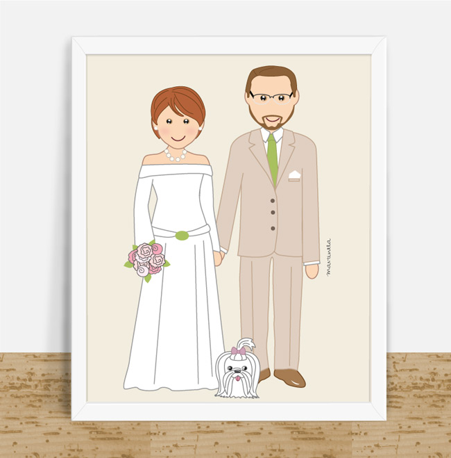 well-groomed couple and pet