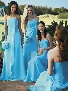strapless sky blue dresses