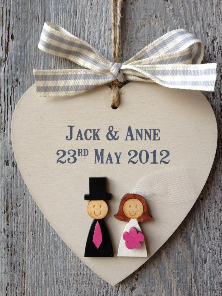Personalised ShabbyChic Bride and Groom Wedding First Christmas