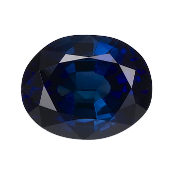 blue oval sapphire