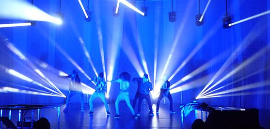 amazing light and sound show