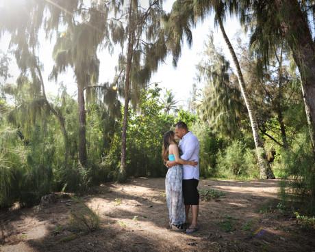 Maui garden wedding photography