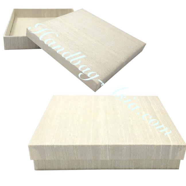 plain ivory dupioni silk box