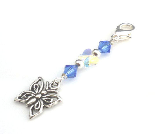 something blue butterfly charm