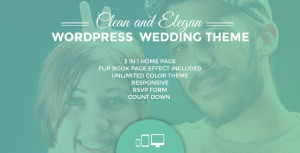Ulemulem WordPress wedding invitation theme