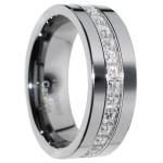 tungsten carbide ring with diamonds