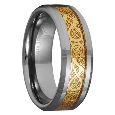 dragon tungsten carbide celtic ring