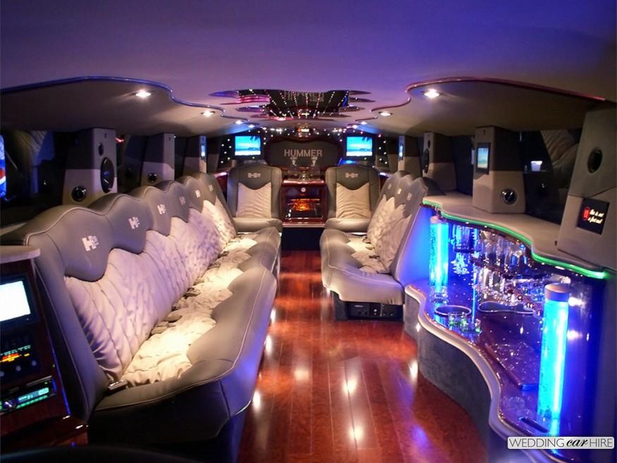 interior amenities of stretch limo