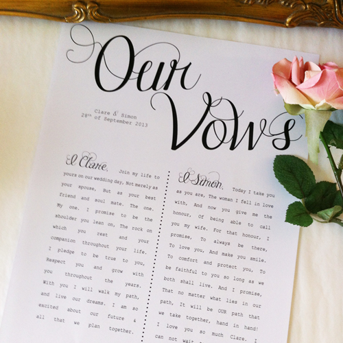 The Importance of Writing Your Wedding Vows | Cardinal Bridal