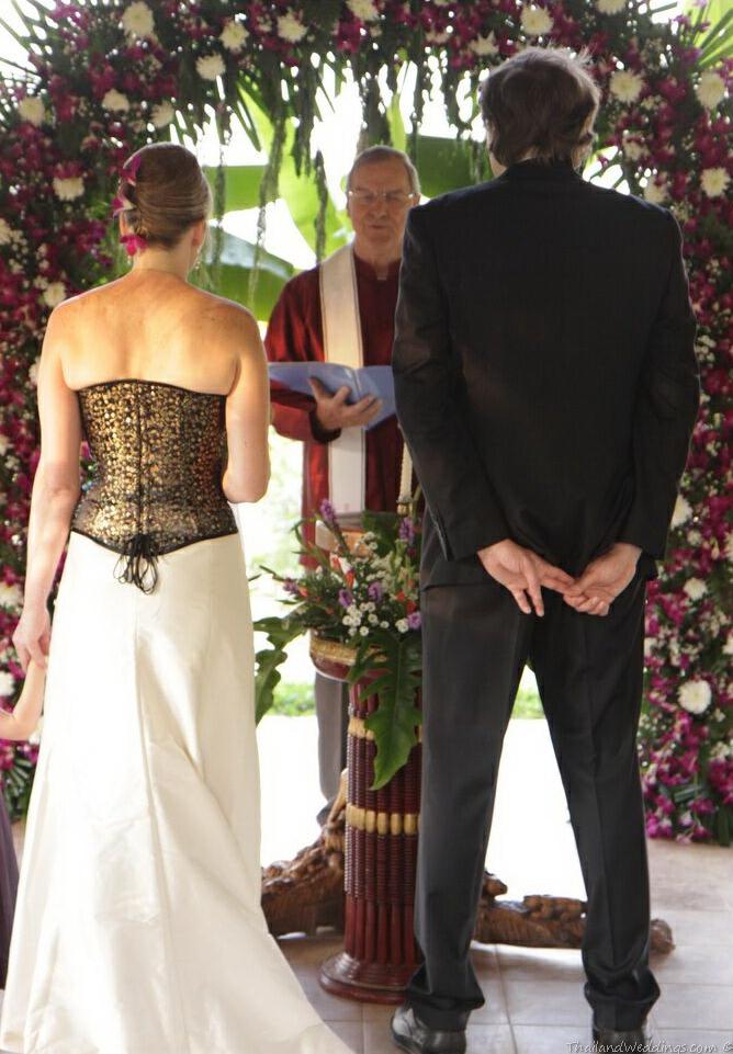 chiangmai wedding rural christian garden wedding in Thailand