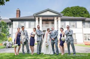 summer wedding party