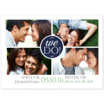 coPrinted save the date card